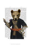 Bear in Blue Robes