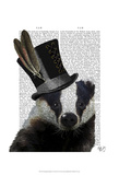 Steampunk Badger in Top Hat