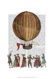 Hot Air Balloon And People