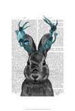 Jackalope with Turquoise Antlers