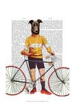 Greyhound Cyclist Reproduction d'art par Fab Funky