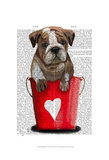 Bulldog Bucket Of Love Red