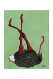 Ostrich Striped Leggings
