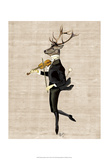 Dancing Deer with Violin
