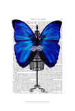 Mannequin Blue Butterfly