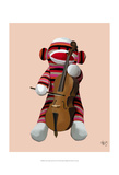 Sock Monkey and Cello