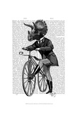 Triceratops Man on Bike Dinosaur