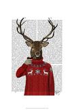 Deer in Ski Sweater