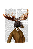 Moose In Suit Portrait