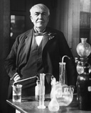 Thomas Edison in His Laboratory