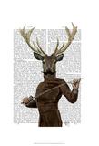 Fencing Deer Portrait