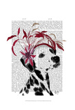 Dalmatian With Red Fascinator