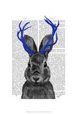 Jackalope with Blue Antlers
