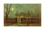 Lady in a Garden by Moonlight  1892