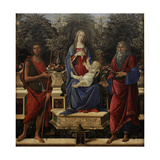 Enthroned Maria with Child with John the Baptist and John the Evangelist