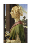 Portrait of a Young Woman with Attributes of St Catherine  1475-78