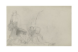 Study for 'Dawn of Waterloo'  1893
