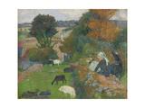 The Breton Shepherdess  1886