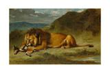 Lion Devouring a Goat  C1850
