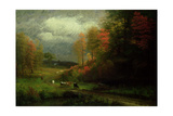 Rainy Day in Autumn  Massachusetts  1857