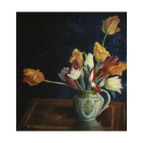 Tulips in a Staffordshire Jug