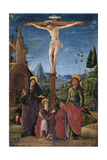 The Crucifixion with Mary  John  Mary Magdalene and a Benefactor  C1480