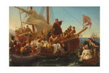 The Departure of Columbus from Palos in 1492  1855