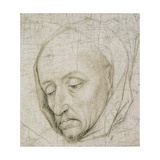 Study of the Head of an Old Man  15th Century