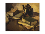 A Still Life with a Teapot and Books on a Table  C1926