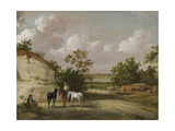 A Quarry Scene with Figures