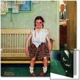 """""""Shiner"""" or """"Outside the Principal's Office"""", May 23,1953 Acrylique par Norman Rockwell"""