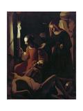 St Sebastian Tended by St Irene  C1649