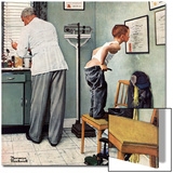 """""""Before the Shot"""" or """"At the Doctor's"""", March 15,1958 Acrylique par Norman Rockwell"""
