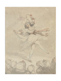 Female Dancer with a Tambourine  1790-95