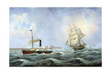 The Brig 'Brotherly Love' and Tug 'William'  1875