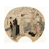Viewing Cherry Blossoms  1794-96