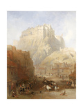 Edinburgh Castle from the Grassmarket  1837