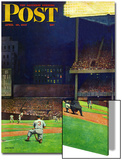 """Yankee Stadium "" Saturday Evening Post Cover  April 19  1947"