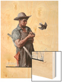 """Farmer and the Bird"" or ""Harvest Time""  August 18 1923"