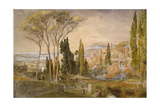 View from the Villa D'Este at Tivoli  1839