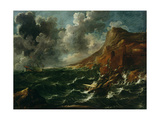 Ships in a Gale  C1705-08
