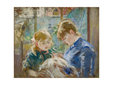 The Artist's Daughter  Julie  with Her Nanny  C1884