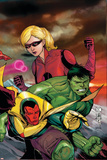 The Mighty Avengers No23 Cover: Vision  Hulk and Stature