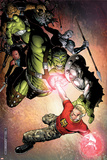 Avengers: The Initiative No4 Cover: Hulk and Hardball