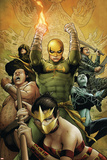 The Immortal Iron Fist No22 Cover: Iron Fist Charging