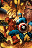 New Avengers No6 Cover: Iron Man and Captain America