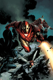 Iron Man No85 Cover: Iron Man  Falcon  Wasp  Ant-man  Black Panther and Avengers