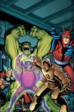 Avengers Classic No2 Cover: Hulk  Giant Man  Iron Man  Thor and Space Phantom