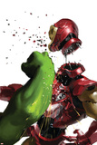 The Invincible Iron Man 19 Cover: Hulk and Iron Man