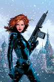 Black Widow No1 Cover: Black Widow Fighting